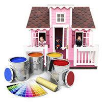 покраска детского домика
