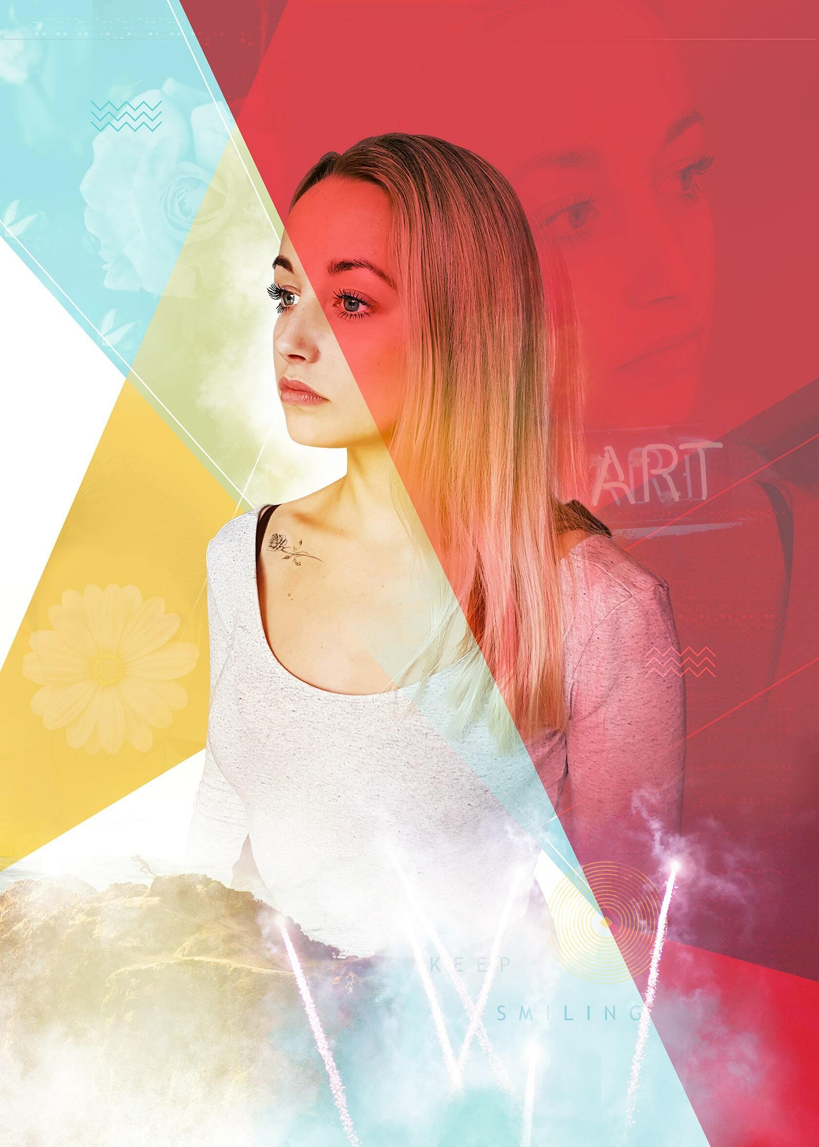 Digital art project abstract portraits ontwerp Artsy