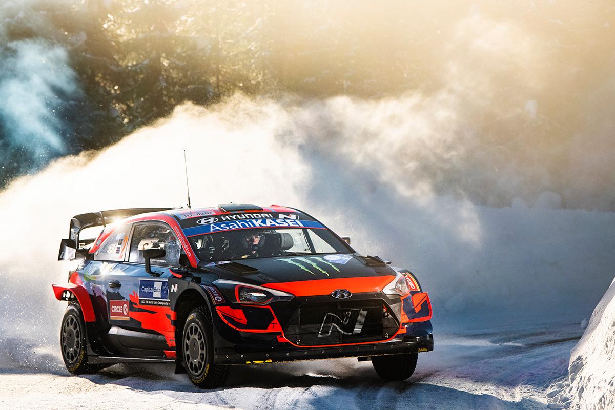 Оливер Сольберг и Себ Маршалл, Hyundai i20 Coupe WRC, Arctic Rally Finland 2021
