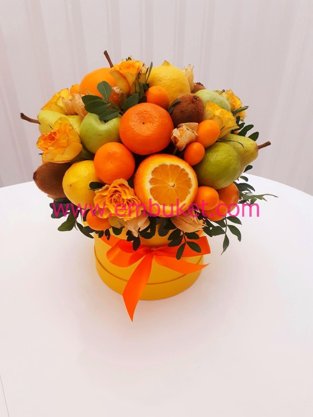 Название для деловых букетов из фруктовых, цветов