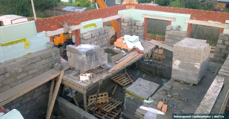 Облицовка дома из керамзитобетона бетона укладчик