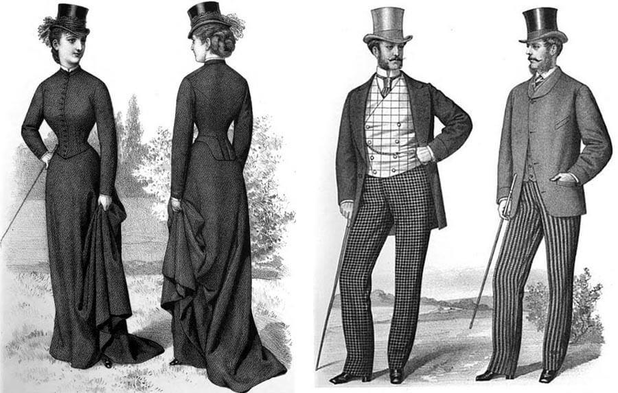 По време на индустриалната революция черните дрехи също били на мода.