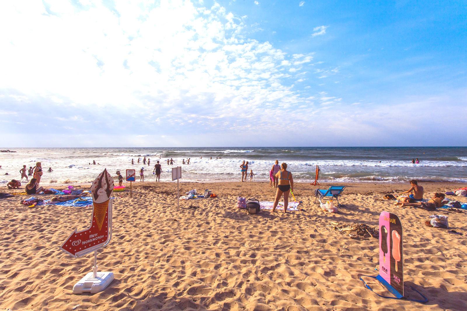 Пляж золотой берег Лермонтово