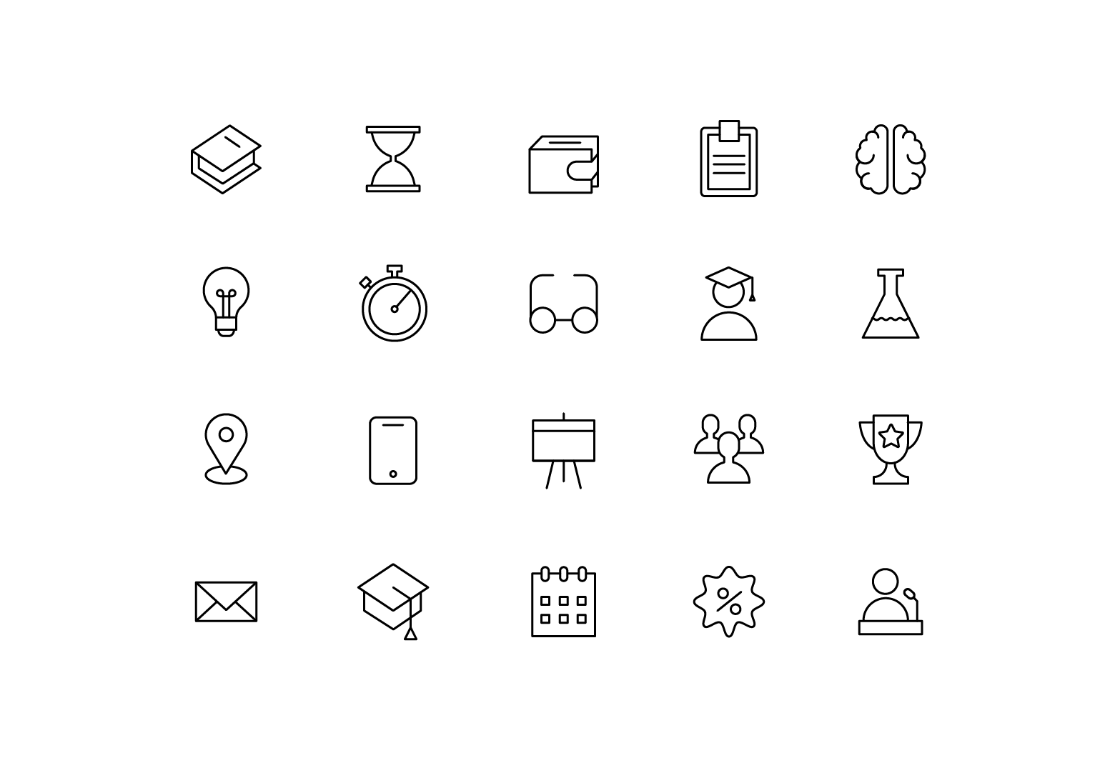 "Icons ""Education"""