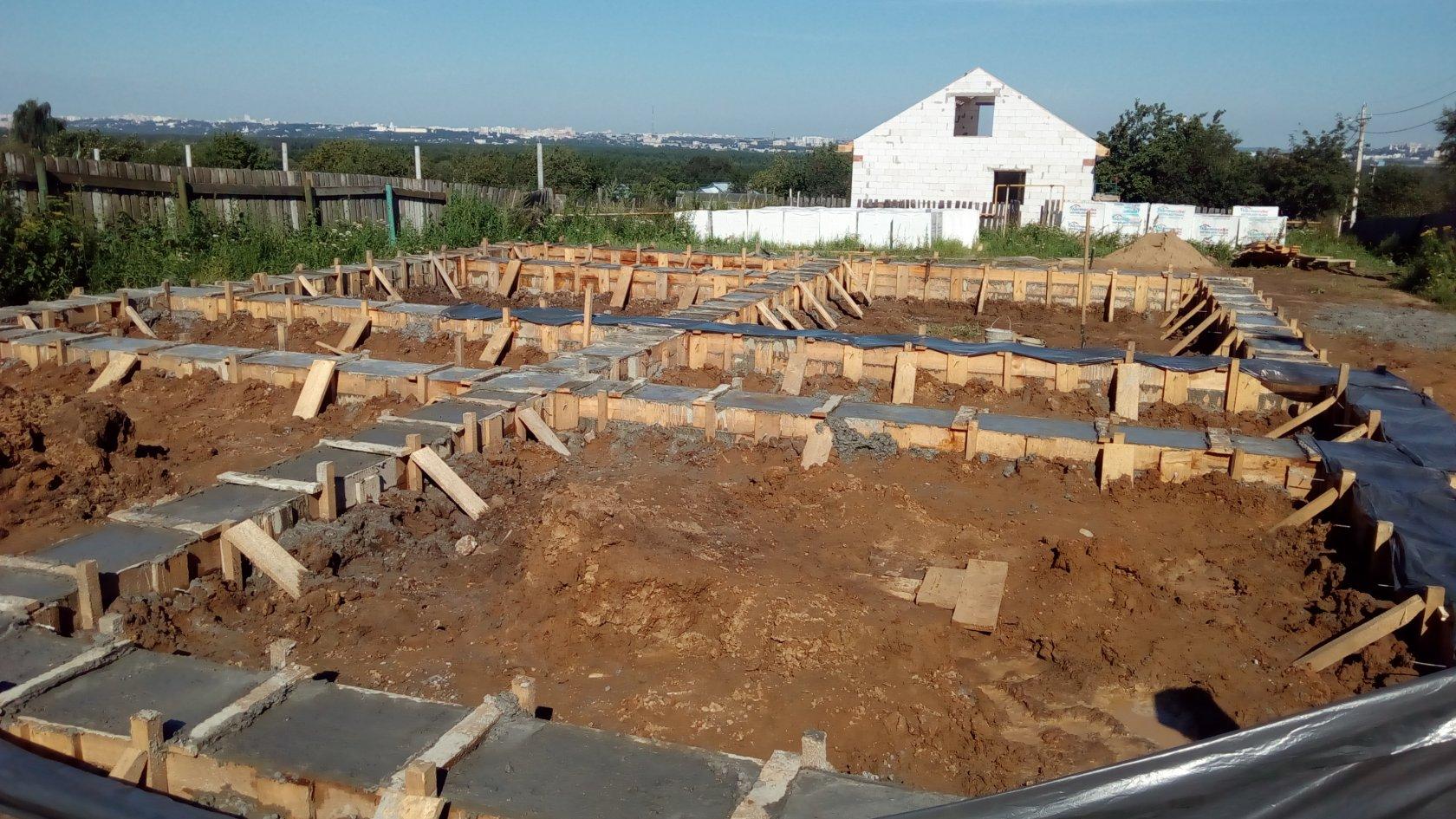 стоимость залить фундамент под дом