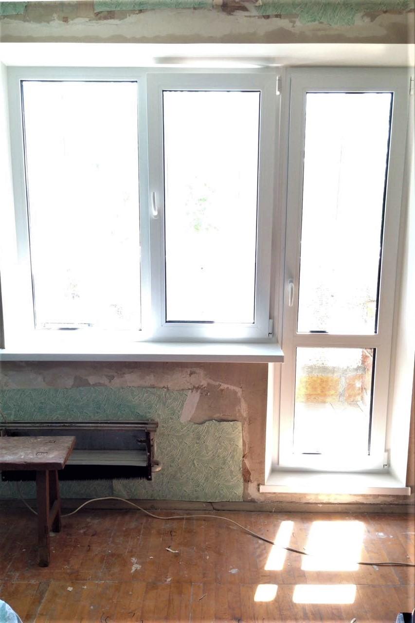Стандартный балконный блок под ключ