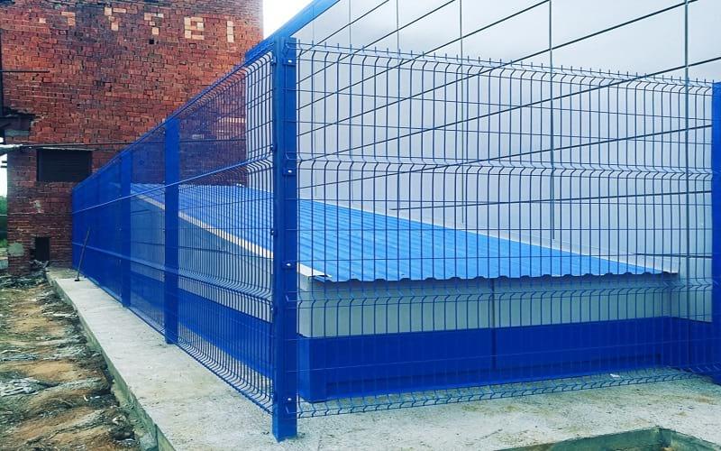 3D забор цвет синий