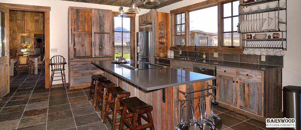 Attrayant Barnwood Kitchen Cabinets