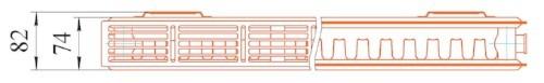 21 тип, радиатор Prado, вид сверху