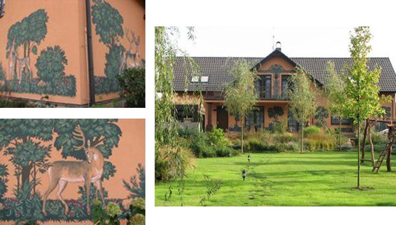 Декорирование фасадов загородного дома