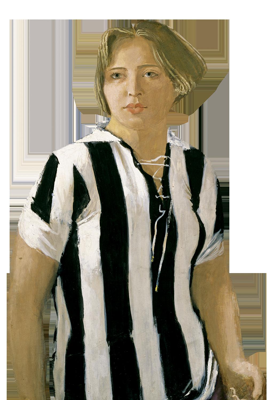 Картина Александра Самохвалова «Девушка в футболке», отражающая идеал женщины советской эпохи
