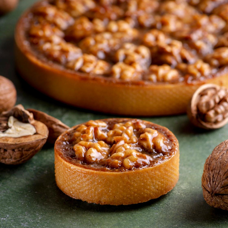 Apple - Walnut tartlet