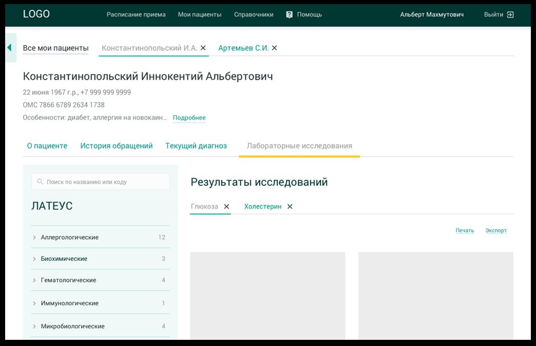 Карточка пациента: Лабораторные исследования | SobakaPav.ru
