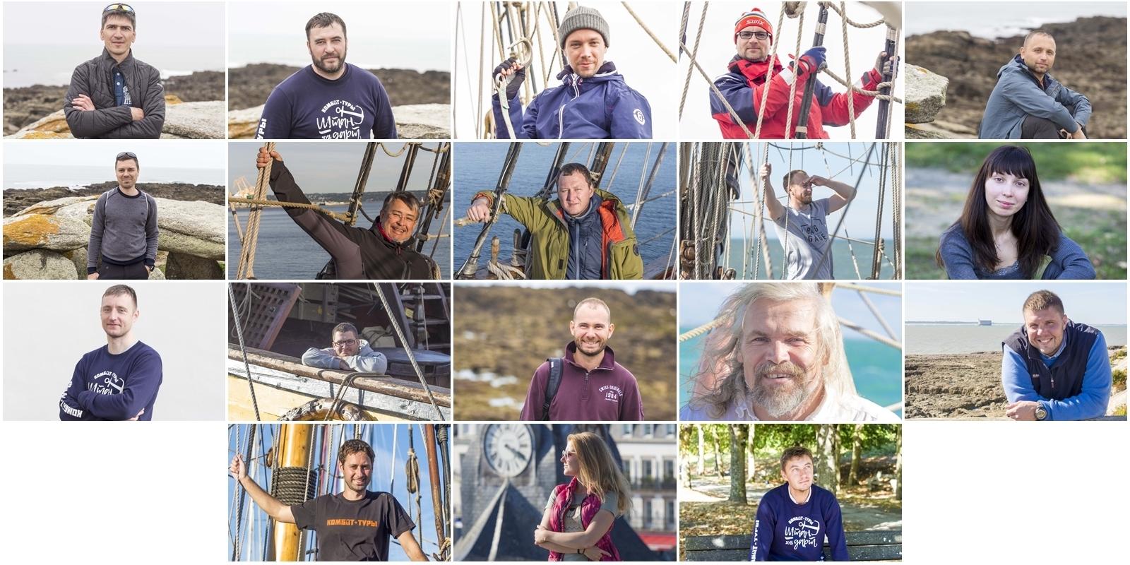 Счастливые лица экипажа комбат-тура на фрегате Штандарт