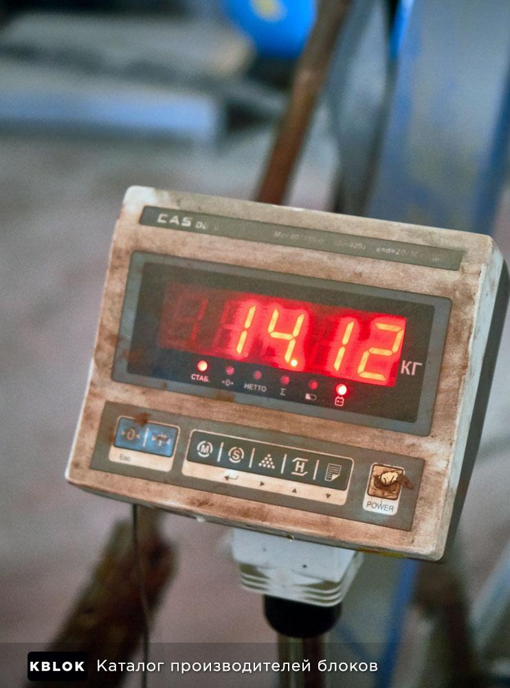 Вес стенового пустотелого блока 14 кг
