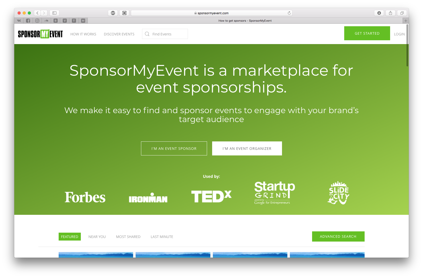 Sponsor My Event is the easy way to find and sponsor events to engage with your brand's target audience