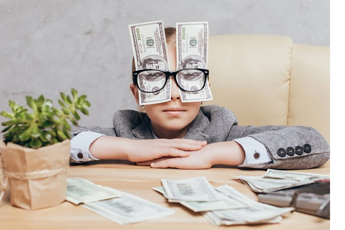 Картинка детей с деньгами