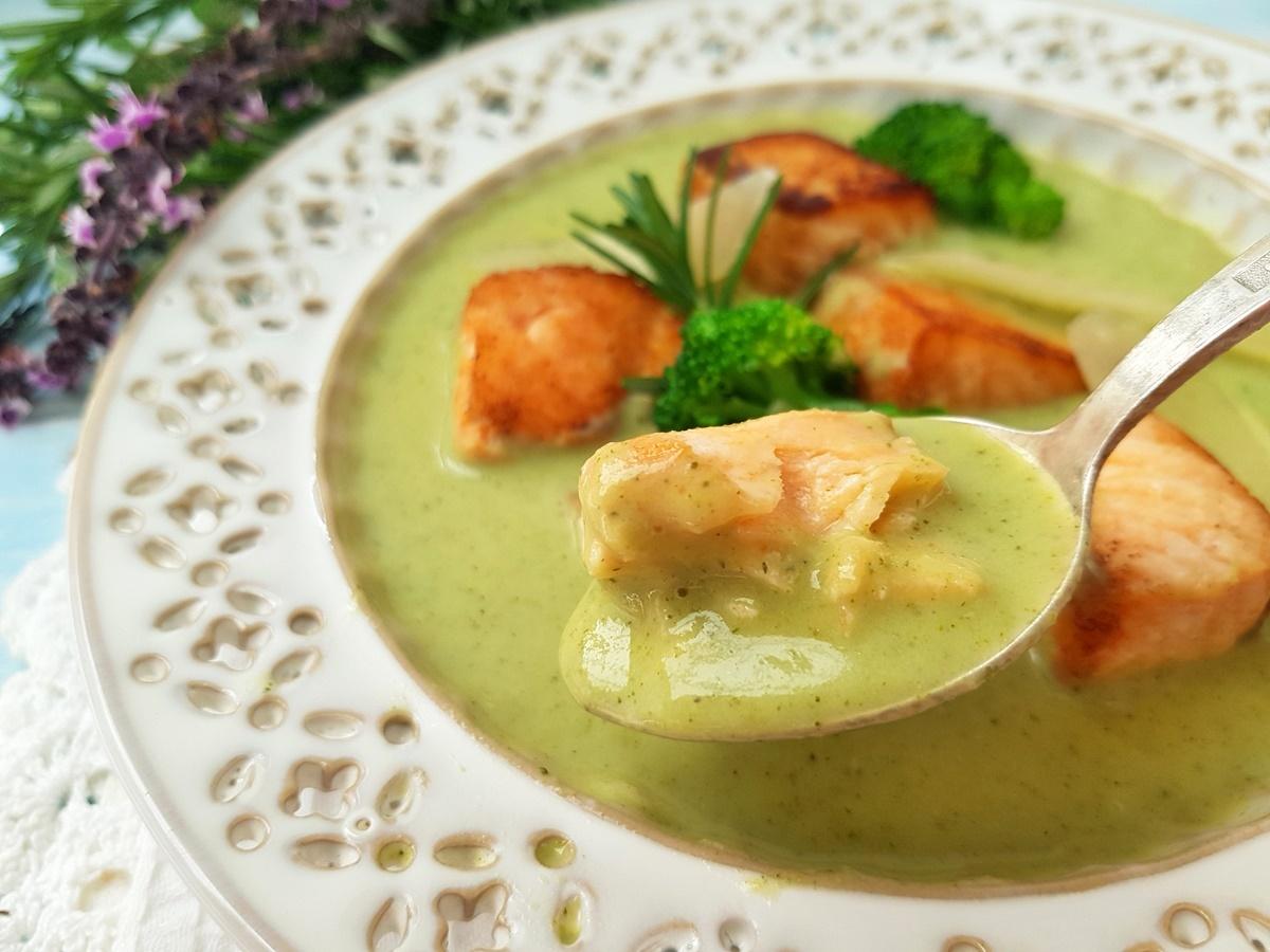 Крем-суп из брокколи с семгой. Рецепт с фото. Вкусный Израиль.