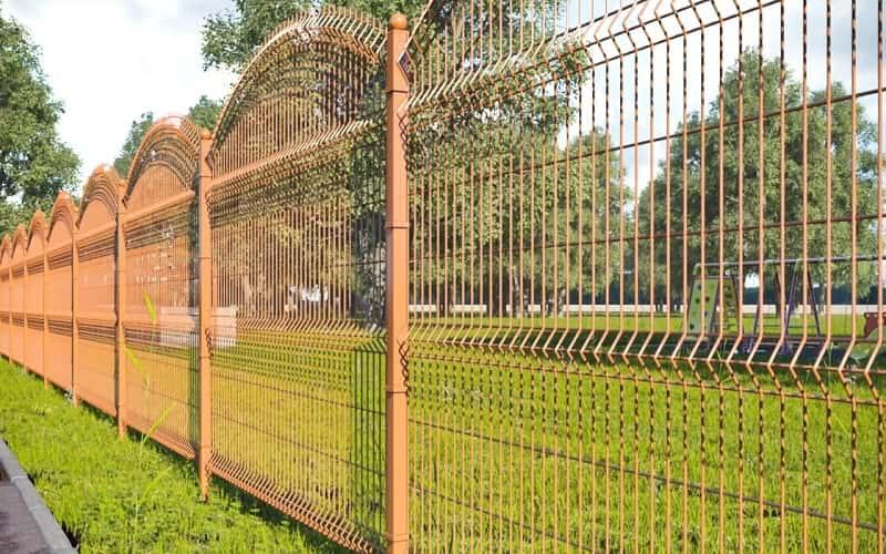 3D забор с арочными секциями