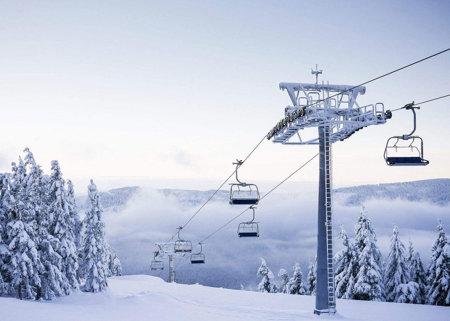 сноуборд, горные лыжи, прокат лыж