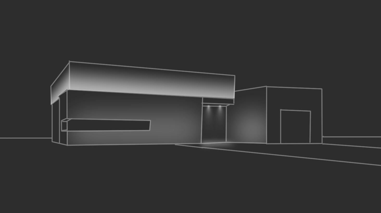 Эских фасадного освещения