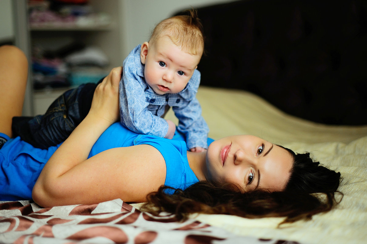 Фотосессия малыша дома