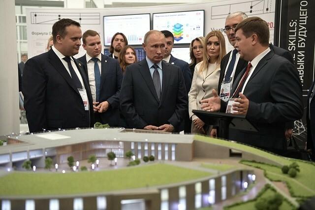 Владимиру Путину представили проект «Новгородская техническая школа»