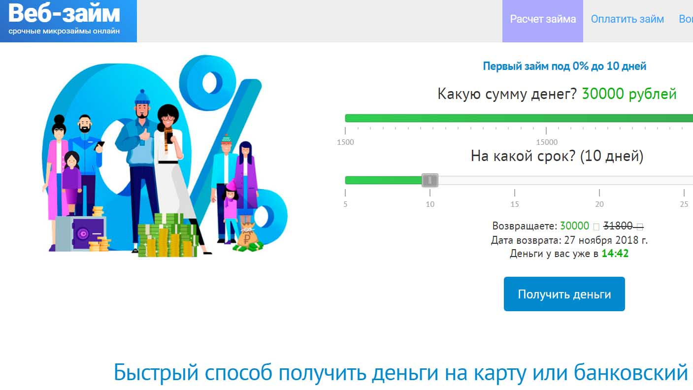 веб займ онлайн на карту