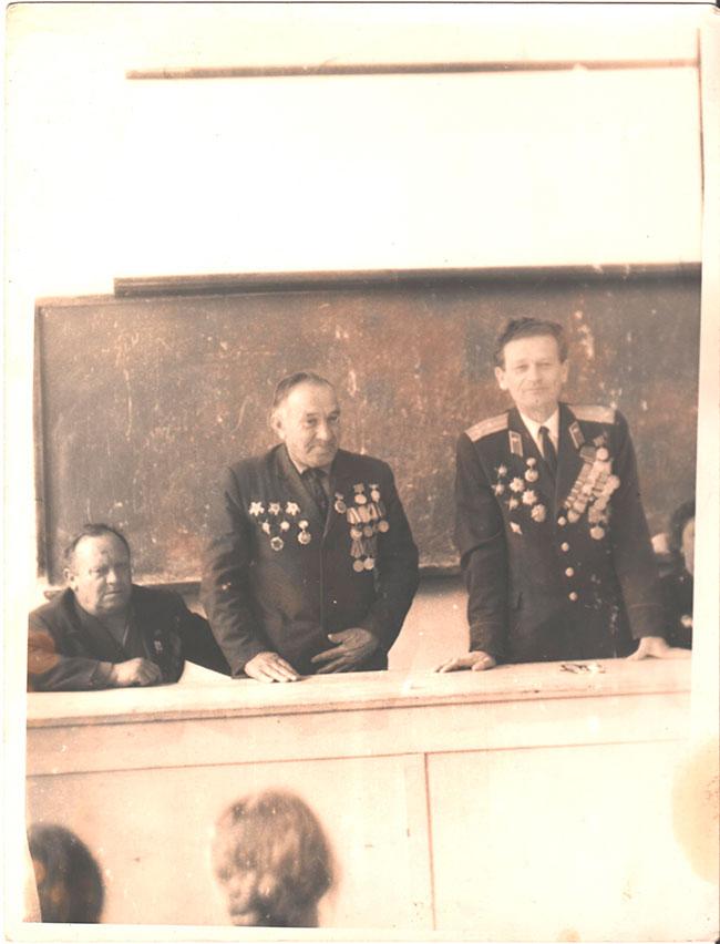 9 мая, конец 60-х , встреча с ветеранами ВОВ