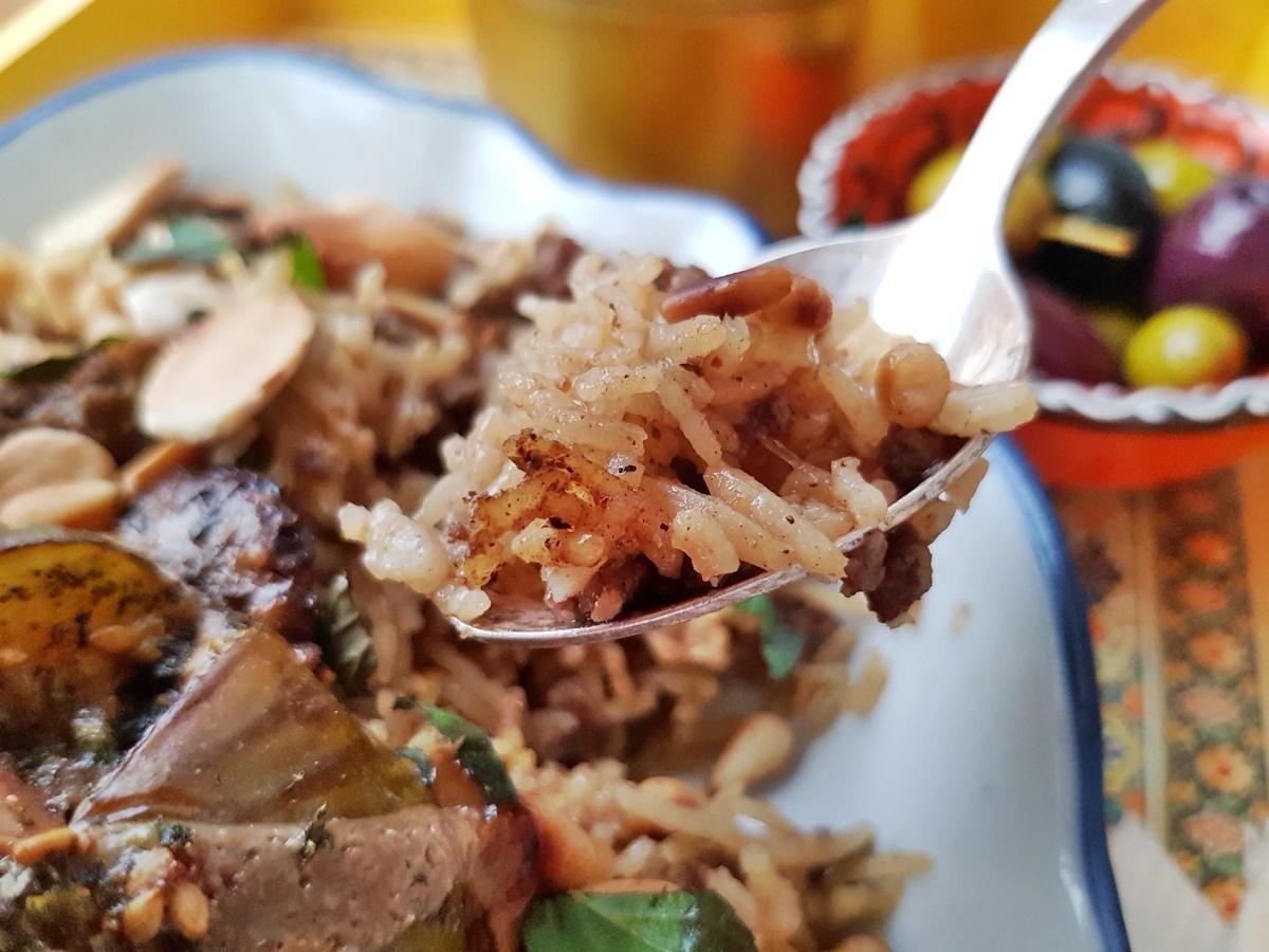 Мансаф – рис с бараниной и орехами. Фото рецепт.