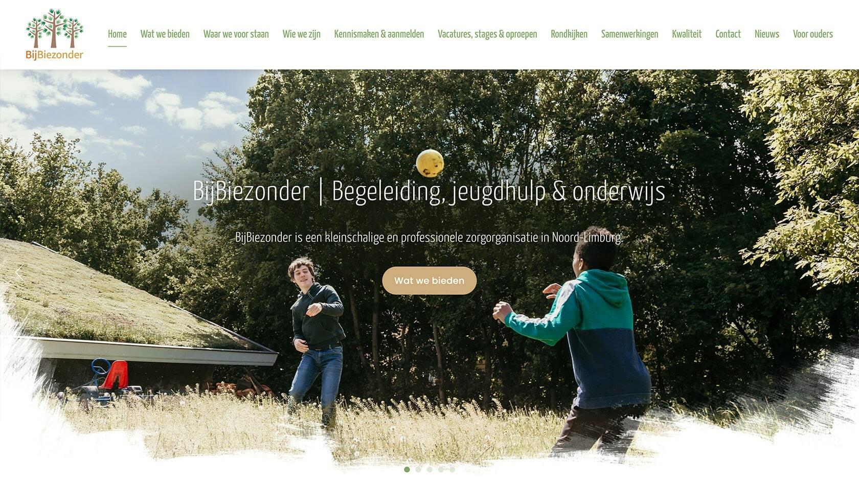 Webiste ontwerp BijBiezonder
