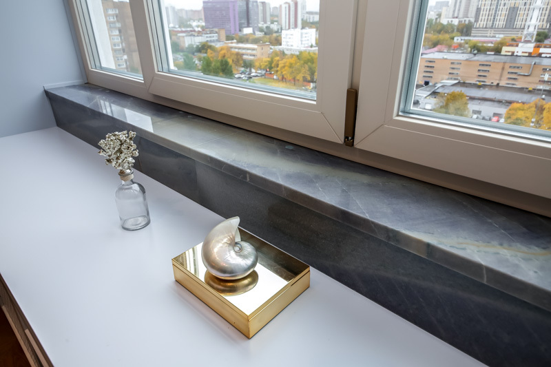 подоконник серый мрамор фото