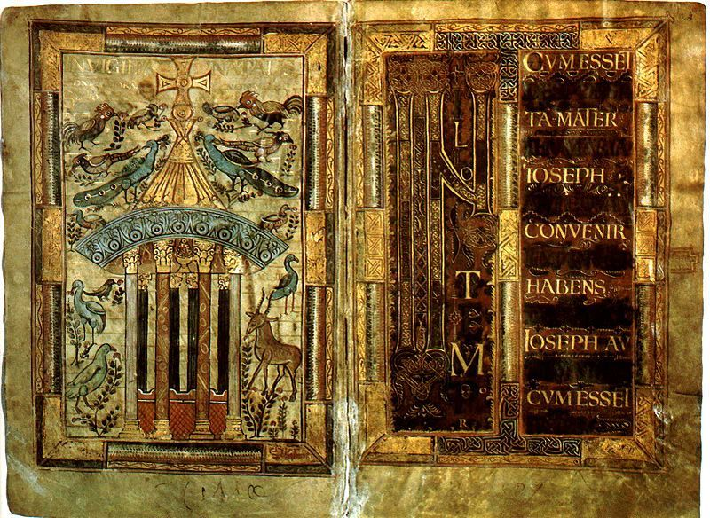 Материал на котором в период средневековья писали книги радость