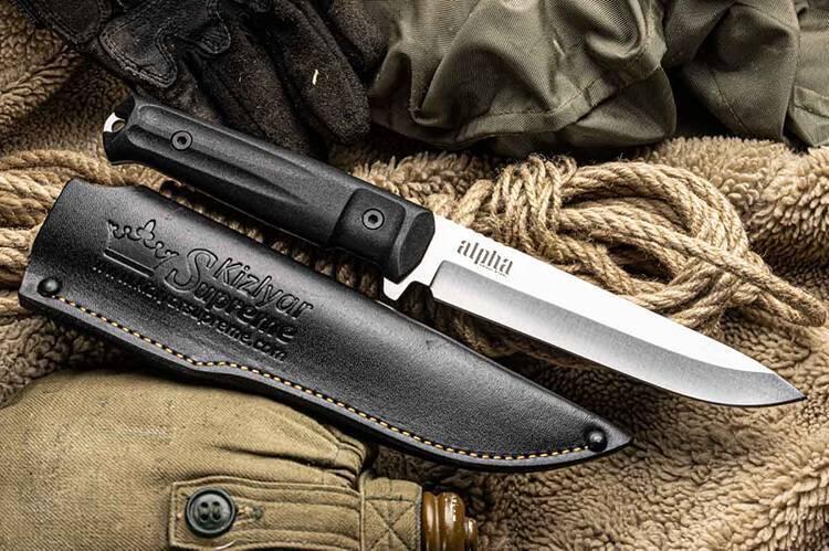 Тактический нож Kizlyar Supreme, нож для спецслужб, Kizyar Supreme, нож Alpha 420HC и Survivalist Z D2 TW, нож Kizlyar, купить нож Россия, Кизляр Суприм