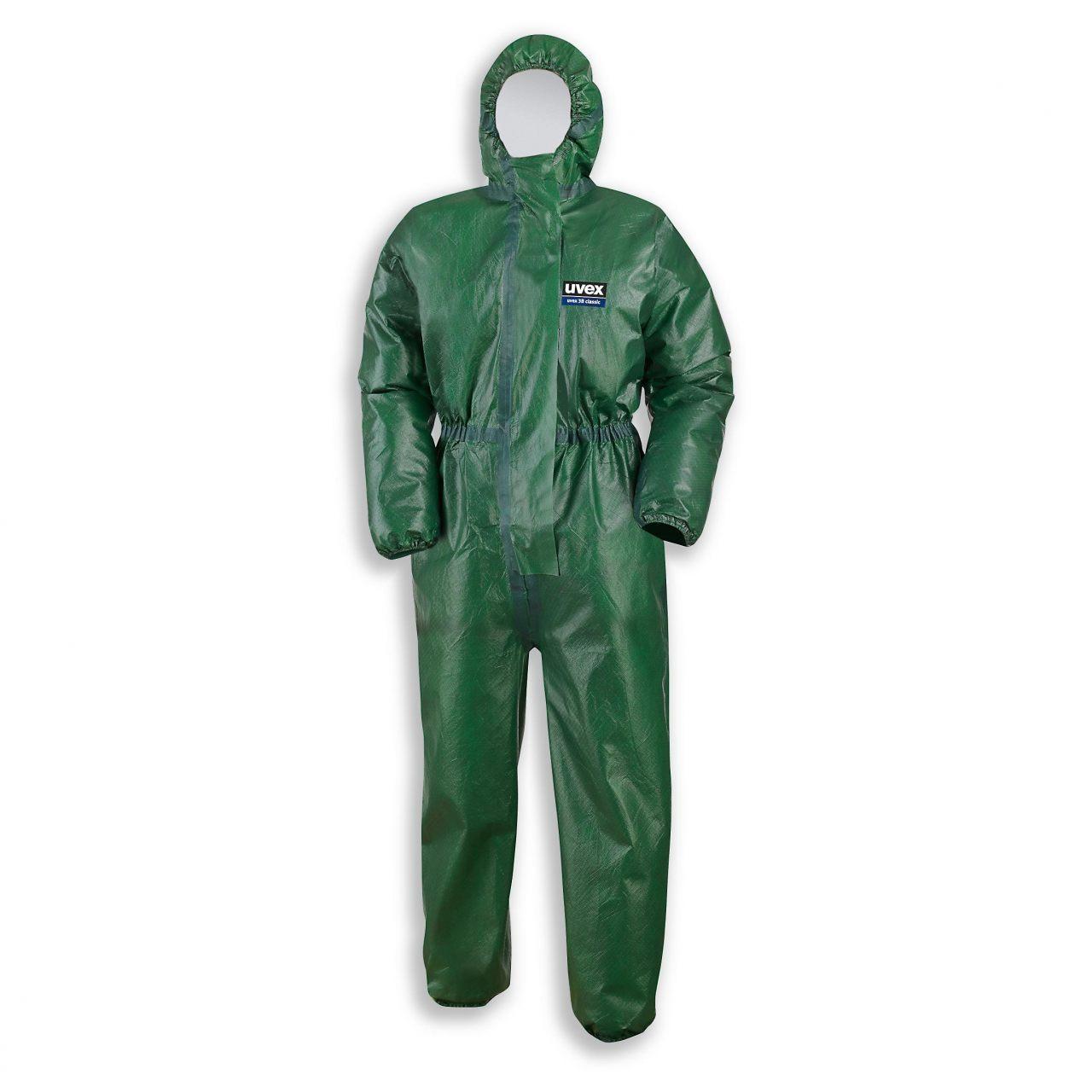 Зеленый химический костюм