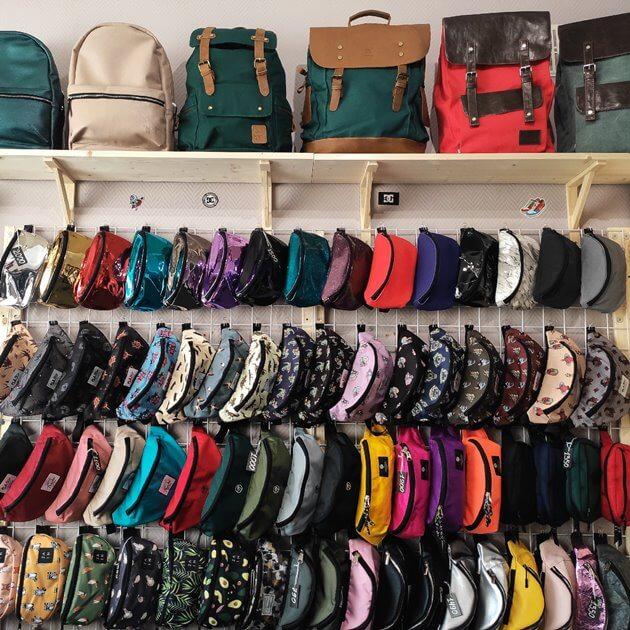 Рюкзаки в шоуруме Blackpack Shop