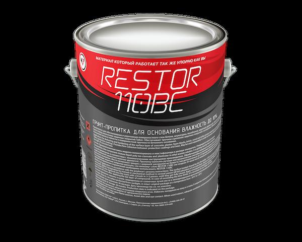 RESTOR 110BC Грунт-пропитка для бетона влажностью до 10%