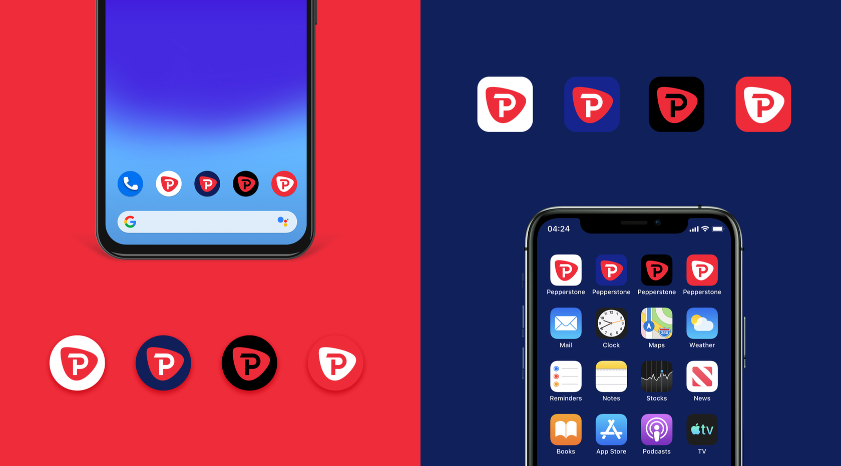 Pepperstone mobile icons