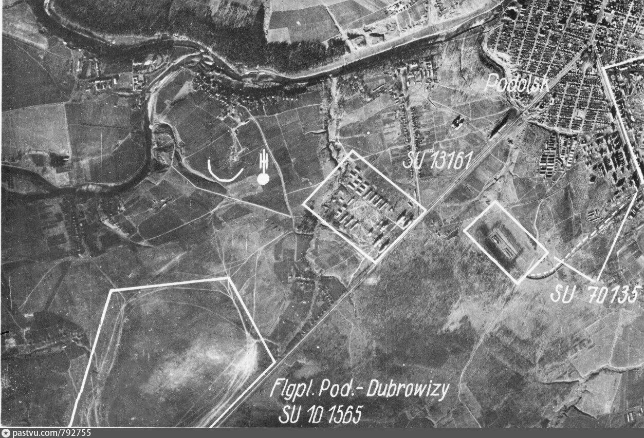 Аэродром «Дубровицы». Немецкая аэрофотосъемка 1942 года.