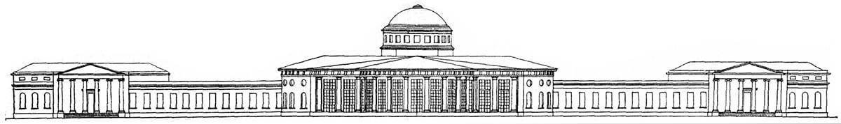 На момент строительства площадь Таврического дворца составляла 65,7тысячи м2, высота была 12метров, адлина пофасаду— 260метров. Это было одно изсамых крупных зданий того времени вЕвропе