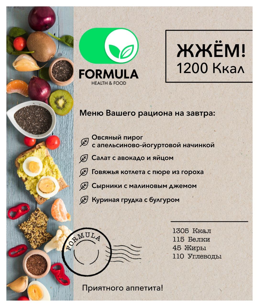 Рацион Для Похудения 1200. Недельный рацион диеты на 1200 калорий в день