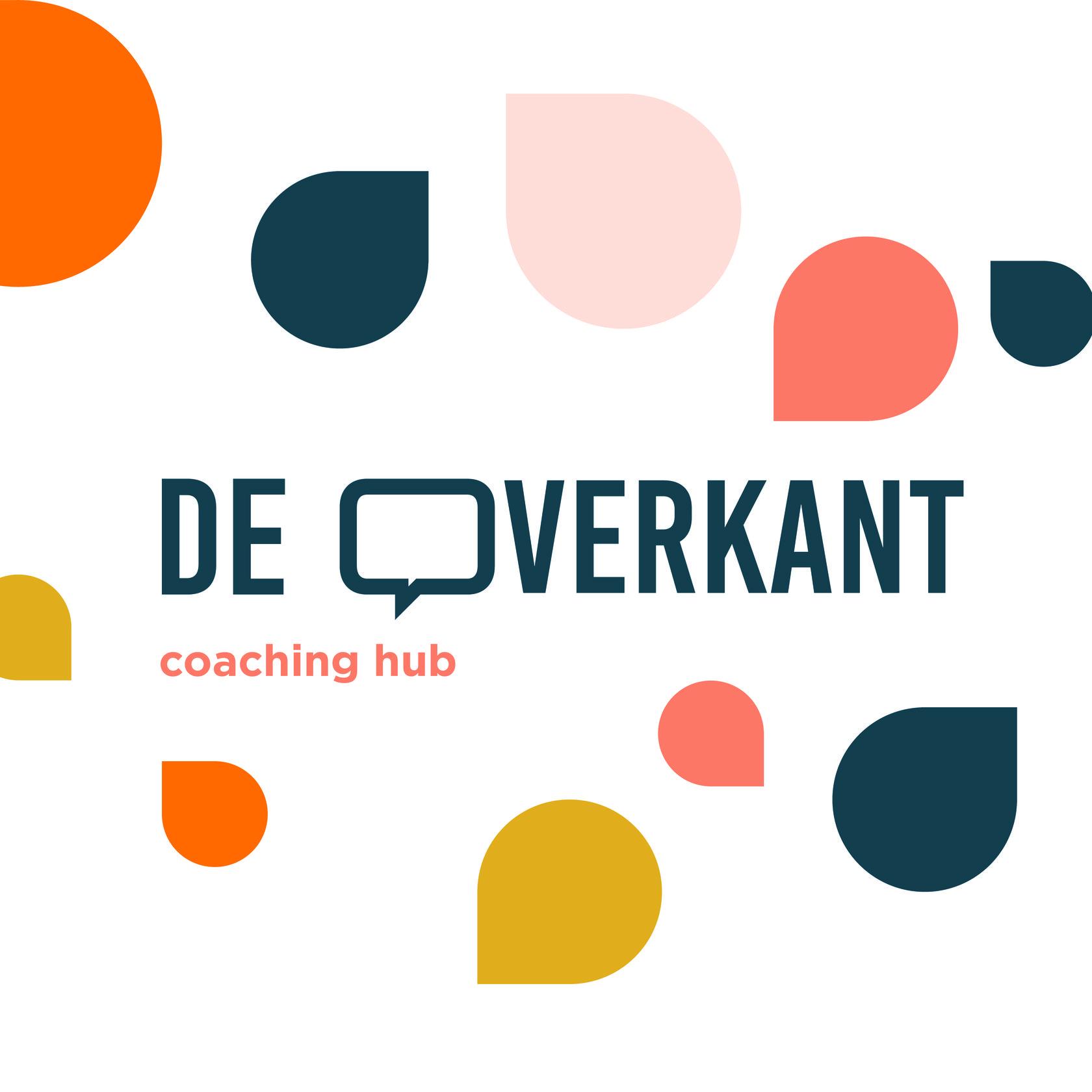 Logo De Overkant : ruimte huren voor coaches, door Studio Arsène