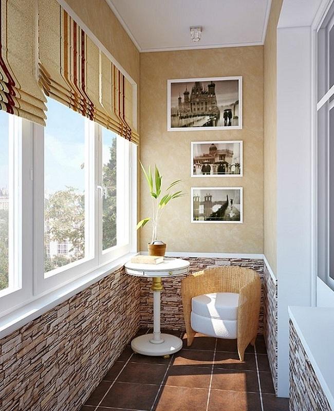 Обустройство балконов и лоджий фото столы