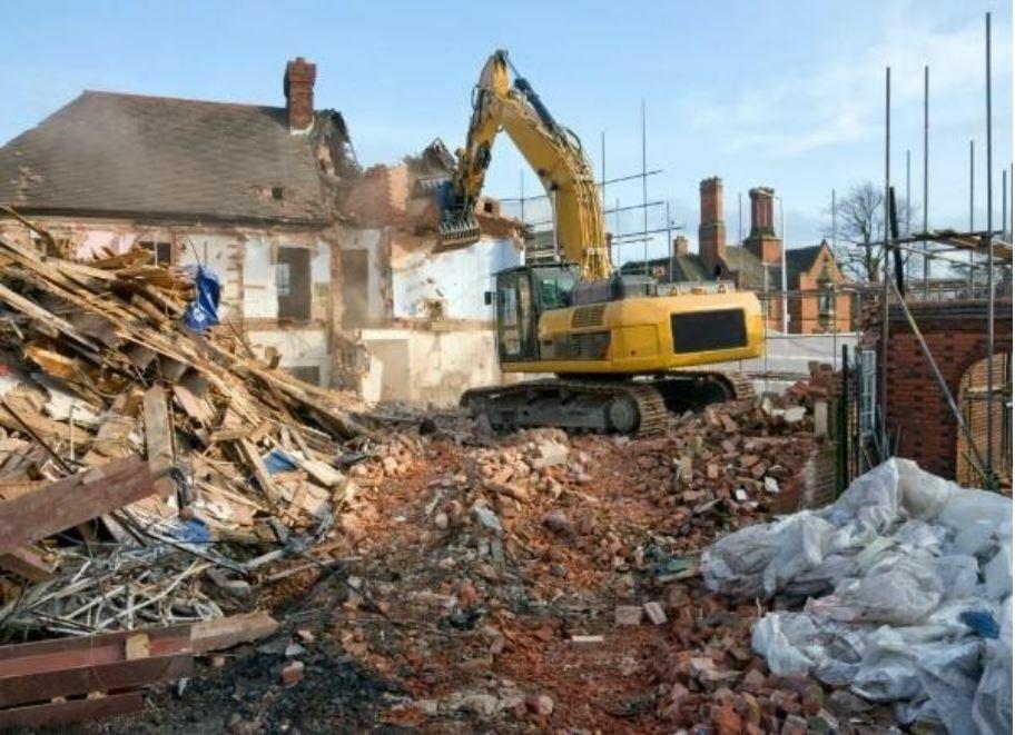 Снос здания на земельном участке