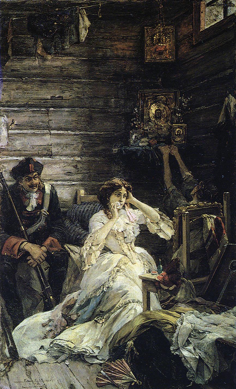 Приговорённая к смерти Мария Гамильтон четыре месяца ждала исполнения приговора. В день казни, рассчитывая на царское помилование — ведь сам император был когда-то её любовником, она надела красивое белое платье. ПАВЕЛ СВЕДОМСКИЙ