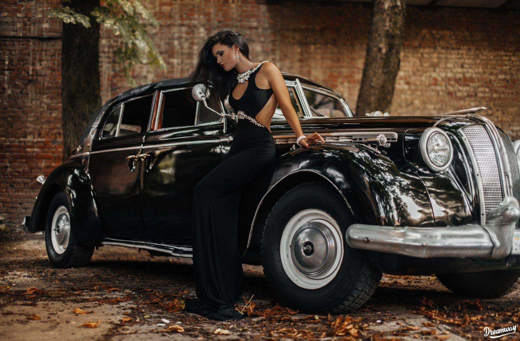 Ретро автомобили и девушки картинки