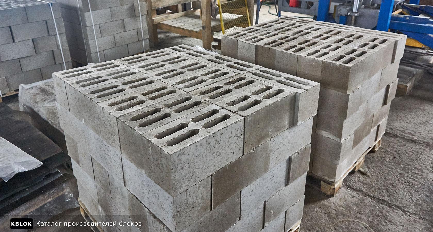 Пескобетонные строительные блоки