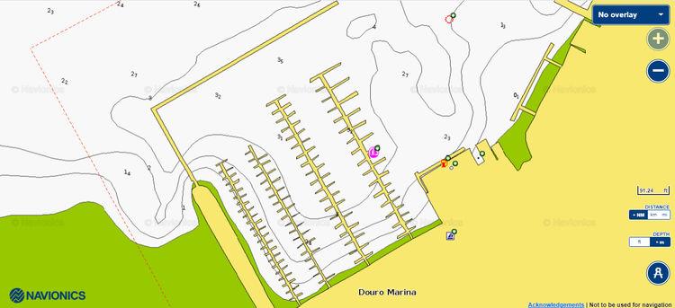 план марины в Порту