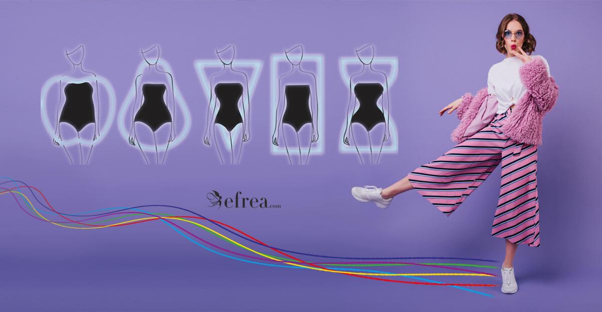 Избор на дамски панталони според различните фитове - круша, ябълка, банан, пясъчен часовник, обърнат триъгълник