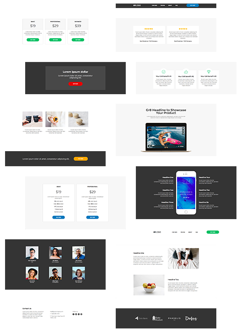 Unbounce blocks library template